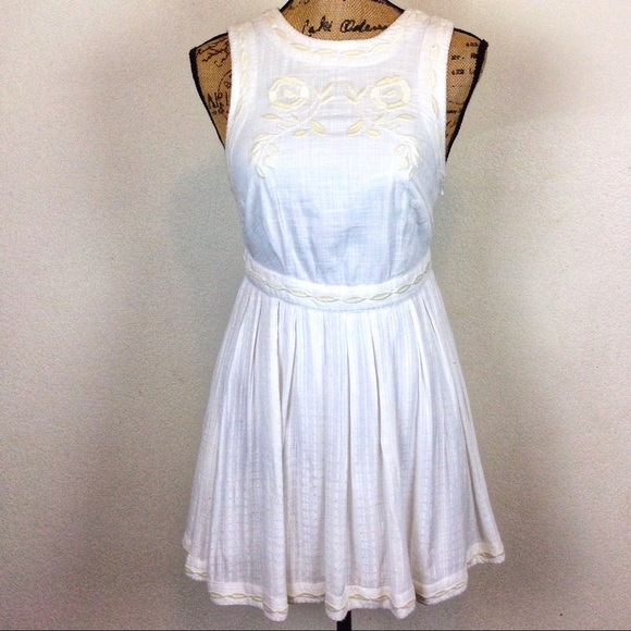 Free People Dresses & Skirts - Free People Embroidered Fit & Flare Dress 2 -N594&